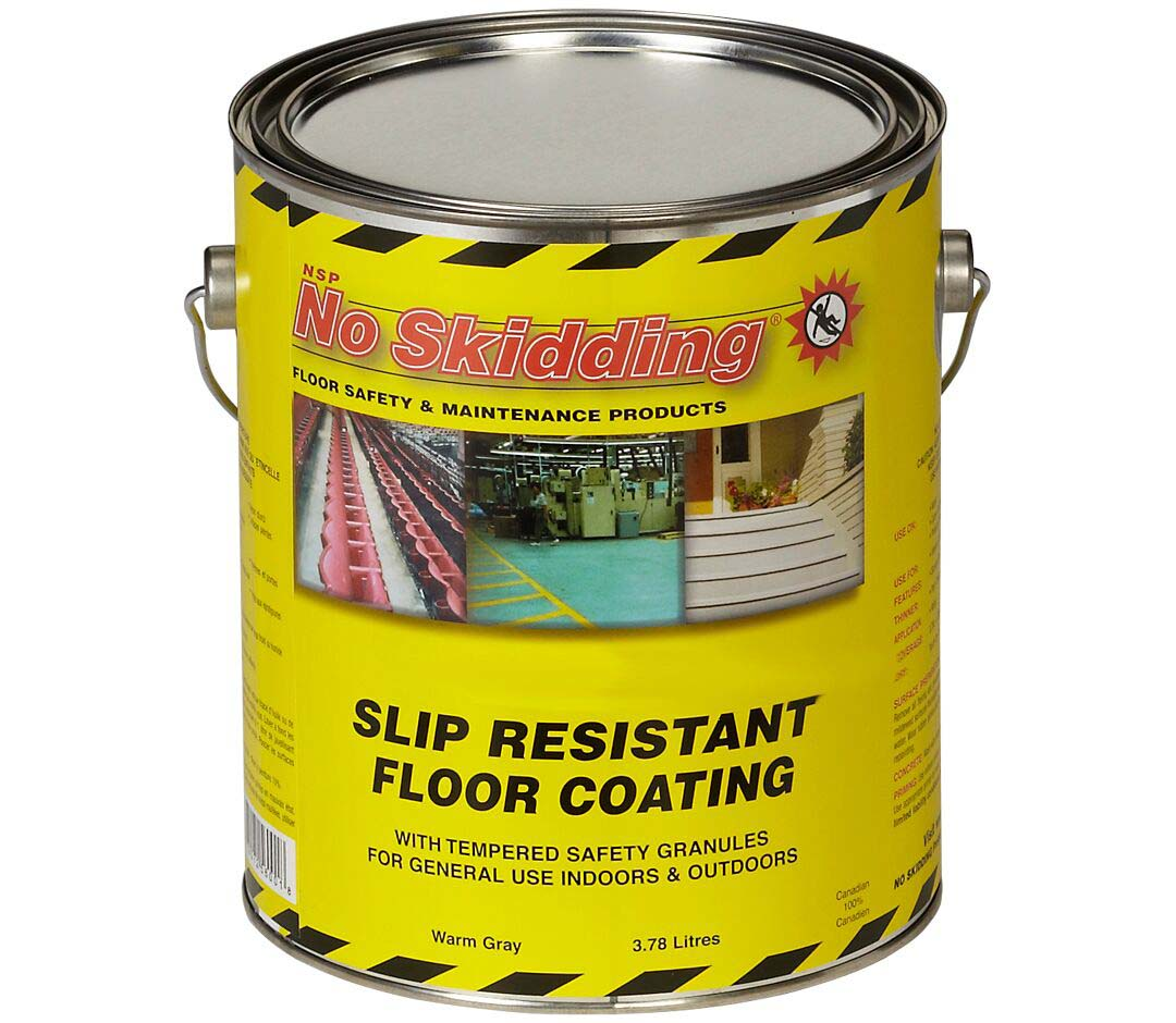 No skidding slip resistant water based epoxy floor for No skid paint