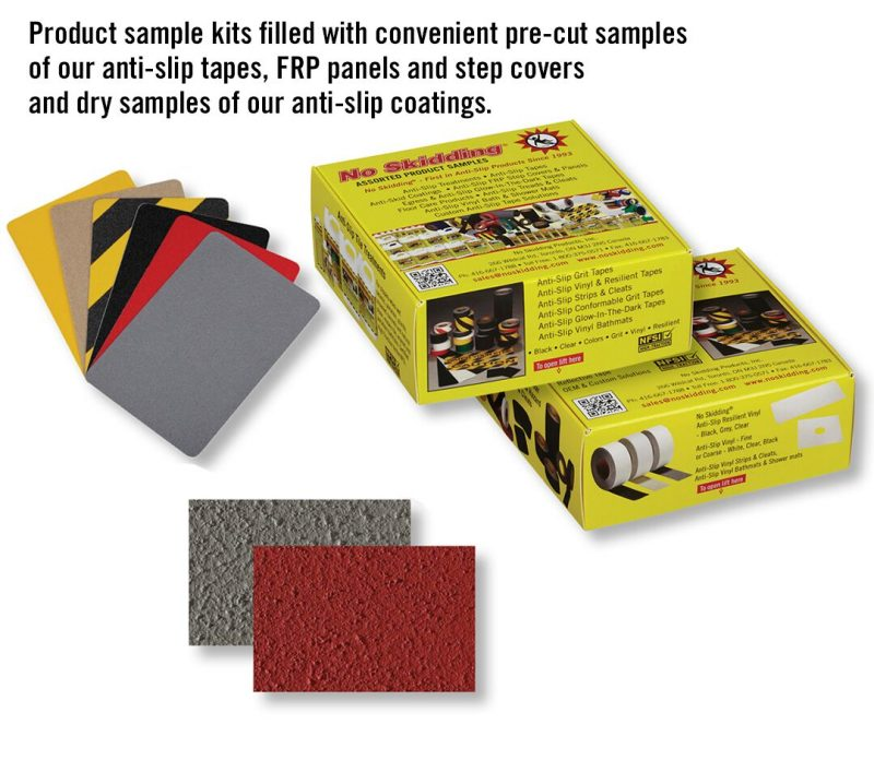 No Skidding product sample kits