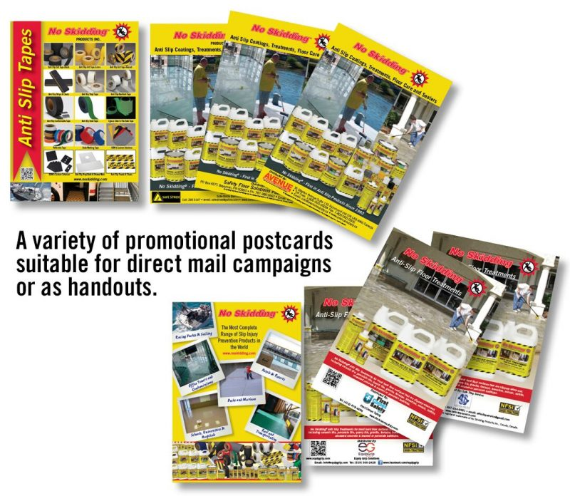 No Skidding promotional postcards