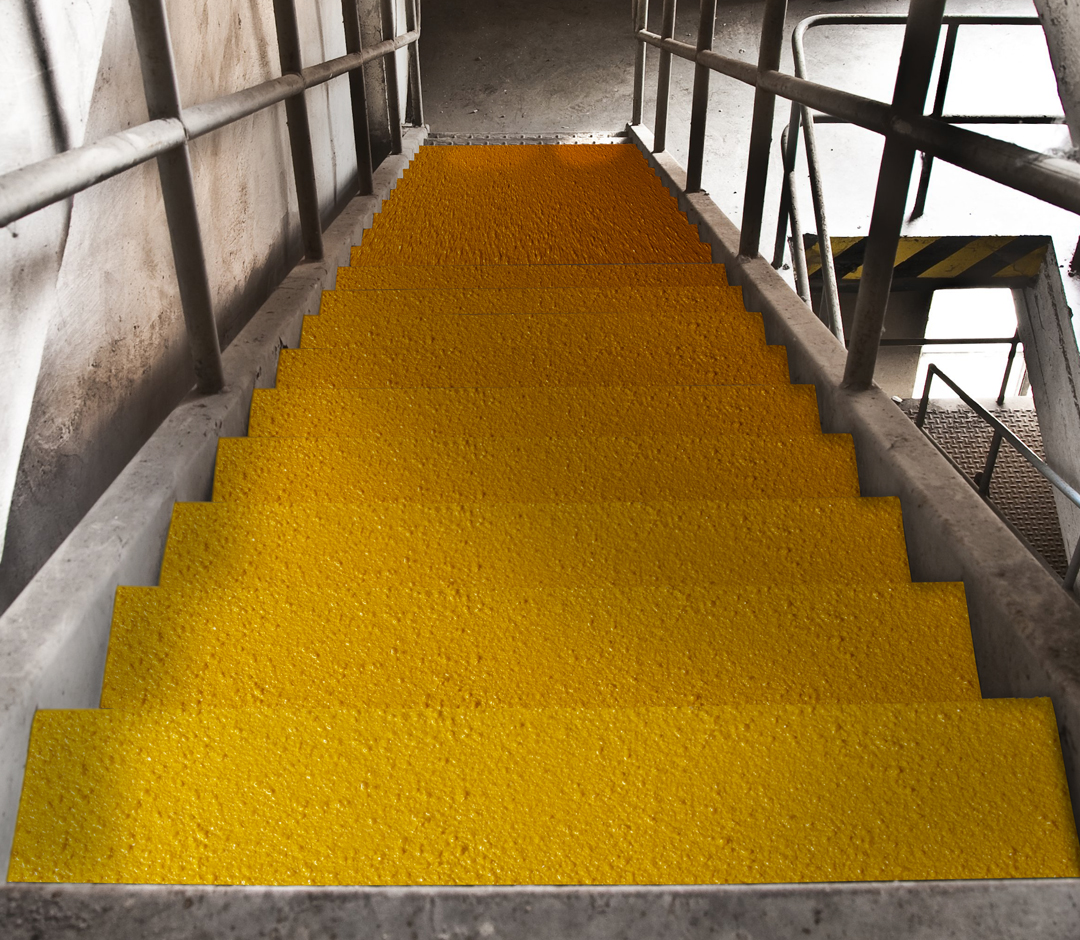 Image of: No Skidding High Traction Anti Slip Step Covers And Treads Black With Yellow Nose No Skidding