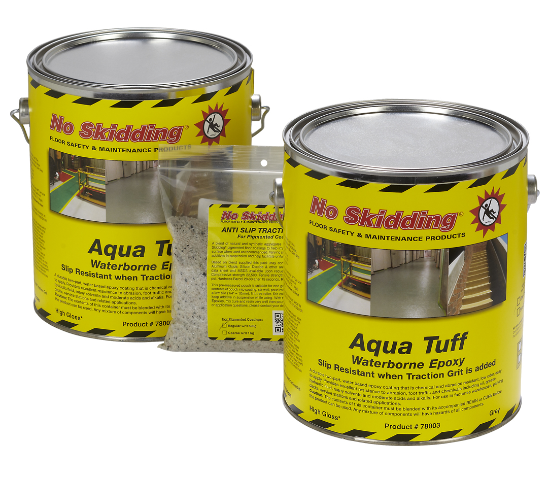 Aqua tuff 2 part water based anti slip epoxy floor coating for No skid paint