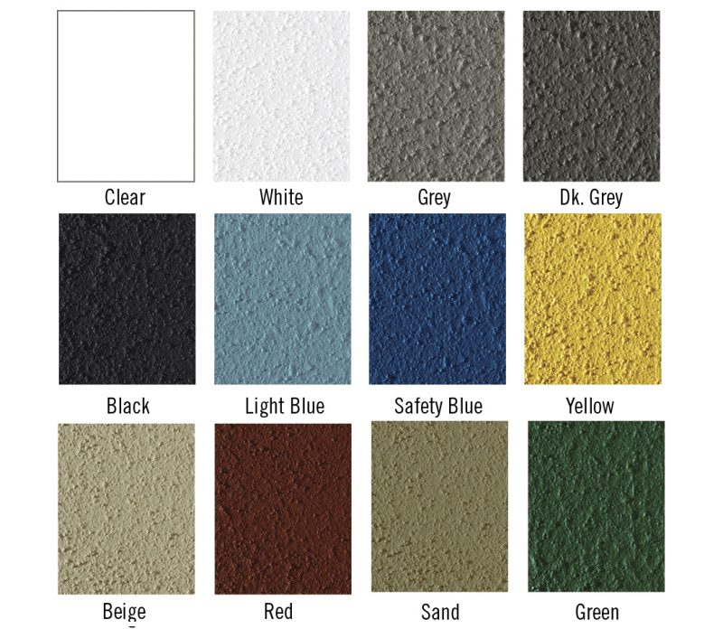Pedestrian grade colour swatches